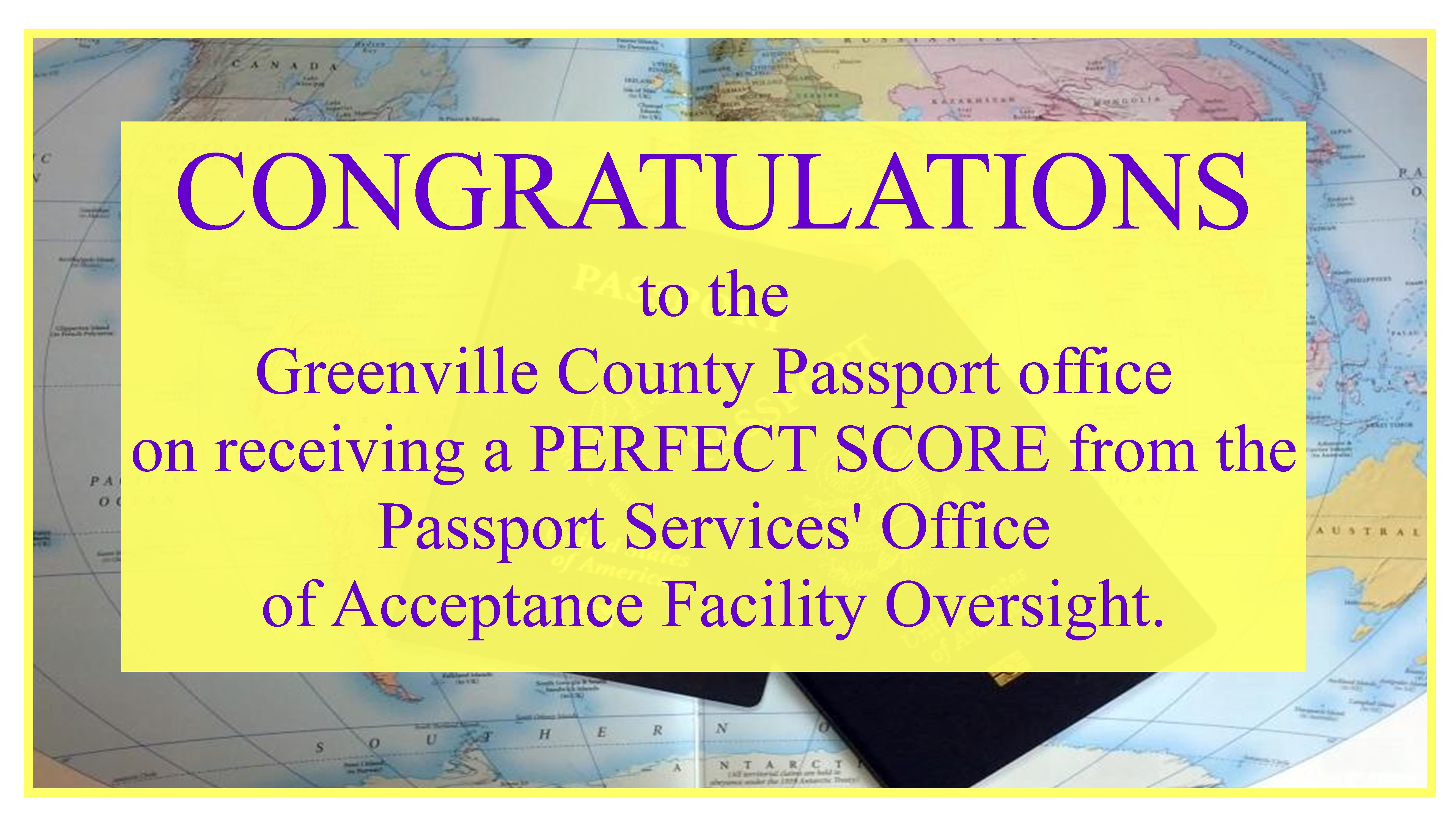 Congratulations To The Passport Office